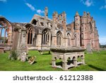 Melrose Abbey Cemetery Scotland.