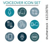 voiceover or voice command icon ... | Shutterstock .eps vector #612130781