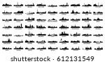 most popular city skyline... | Shutterstock .eps vector #612131549