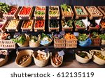 big choice of fresh fruits and... | Shutterstock . vector #612135119