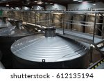 stainless tanks for processing... | Shutterstock . vector #612135194