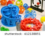 objects printed by 3d printer.... | Shutterstock . vector #612138851