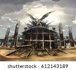 digital illustration of... | Shutterstock . vector #612143189