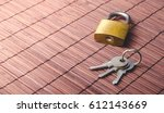 Locked Padlock And Keys