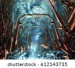 digital illustration of...   Shutterstock . vector #612143735