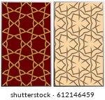 vector monochrome seamless... | Shutterstock .eps vector #612146459