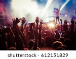 crowd at concert   summer music ... | Shutterstock . vector #612151829