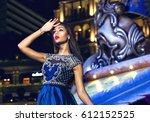 portrait of a beautiful... | Shutterstock . vector #612152525