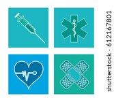 set healthcare medical symbol