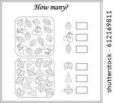mathematics task. how many... | Shutterstock .eps vector #612169811