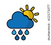 rain weather isolated icon... | Shutterstock .eps vector #612171077