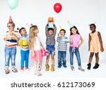 happiness group of cute and... | Shutterstock . vector #612173069