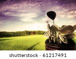 professional golf gear on the...   Shutterstock . vector #61217491