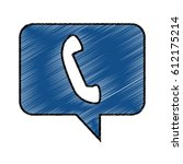 speech bubble with telephone...