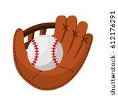 baseball ball isolated icon...   Shutterstock .eps vector #612176291