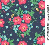 seamless pattern with... | Shutterstock .eps vector #612180065