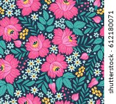 seamless pattern with... | Shutterstock .eps vector #612180071