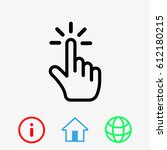 click icon stock vector... | Shutterstock .eps vector #612180215