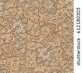 vector seamless pattern with... | Shutterstock .eps vector #612180305