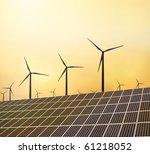 windraeder und solaranlage   Shutterstock . vector #61218052