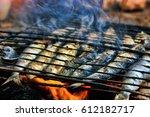 grilled sardine | Shutterstock . vector #612182717