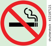 no smoking sign gray | Shutterstock .eps vector #612187121