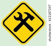 construction sign gray | Shutterstock .eps vector #612187247