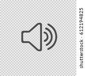 sound symbol vector icon eps 10 ...   Shutterstock .eps vector #612194825