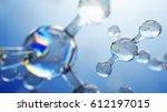 3d illustration of glass... | Shutterstock . vector #612197015
