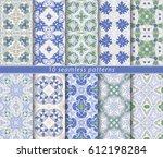 ten classic seamless patterns.... | Shutterstock .eps vector #612198284