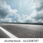 asphalt road and sky cloud...   Shutterstock . vector #612208787