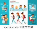 infographics with people ... | Shutterstock .eps vector #612209657