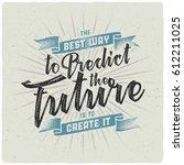 handmade textured lettering... | Shutterstock .eps vector #612211025