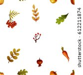 autumn. pattern | Shutterstock . vector #612211874
