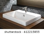 Bathroom Interior With Sink An...