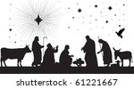 star of bethlehem. all elements ... | Shutterstock .eps vector #61221667