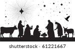 star of bethlehem. all elements ... | Shutterstock .eps vector #61221667