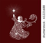 christmas angels. all elements... | Shutterstock .eps vector #61221688