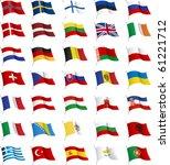 all european flags. all... | Shutterstock .eps vector #61221712