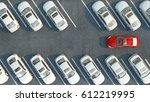 many cars parked. 3d... | Shutterstock . vector #612219995