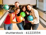 group of four friends in a... | Shutterstock . vector #61223554