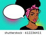 pop art afro american female... | Shutterstock .eps vector #612236411