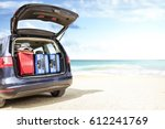car on beach  | Shutterstock . vector #612241769