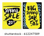 sale cards with beautiful... | Shutterstock .eps vector #612247589