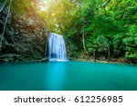 waterfall in tropical forest at ... | Shutterstock . vector #612256985