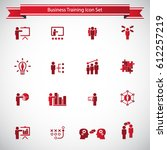 business training icon set | Shutterstock .eps vector #612257219