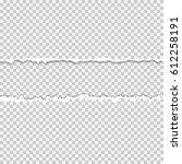 realistic vector torn paper... | Shutterstock .eps vector #612258191