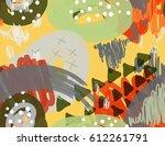 abstract marker scribbles dots...   Shutterstock .eps vector #612261791