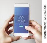 cloud network data backup... | Shutterstock . vector #612263531