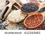 collection of exclusive gourmet ... | Shutterstock . vector #612263681